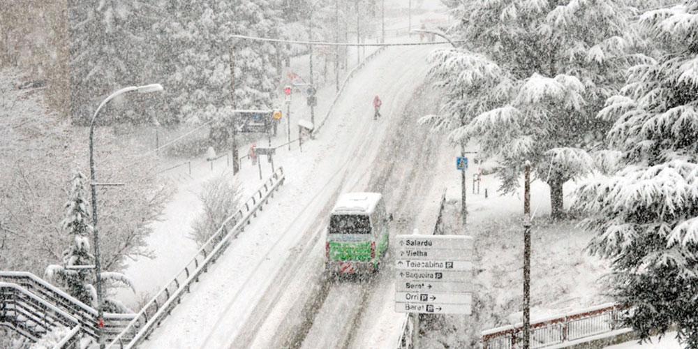 La primera nevada importante de la temporada